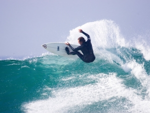 Shaun Tomson - Still pushing my limits while approaching 50 at my favorite wave in the world - Souther Africa, Super Tubes, Jeffery's Bay, 2005.